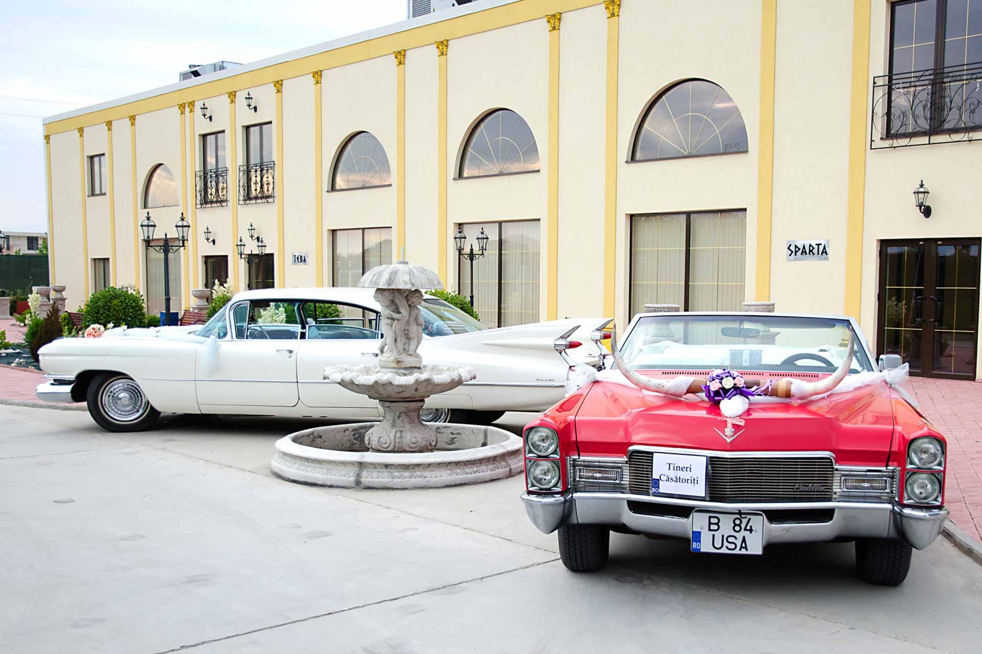 Masina de epoca Cadillac de inchiriat pentru nunti